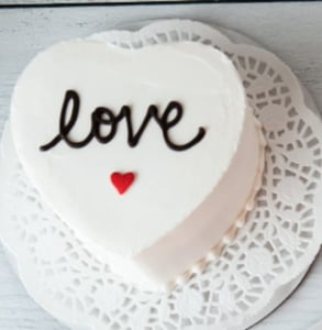 Photo of a heart-shaped cake