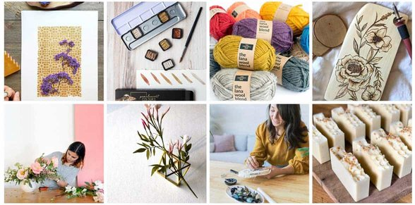 Collage of photos from The Crafter's Box website