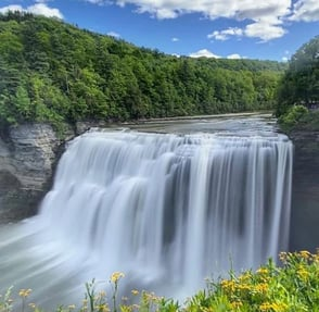 Photo of the Middle Falls at Letchworth State Park