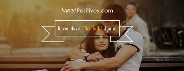 Screenshot from MeetPositives website