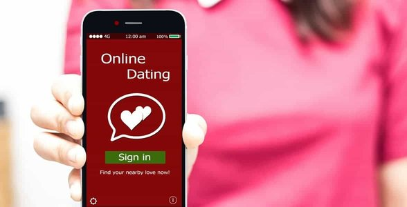 Photo of a dating app