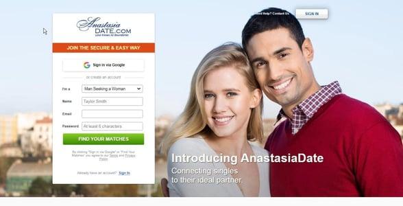 Screenshot of AnastasiaDate