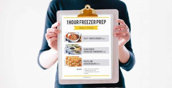 1 Hour Freezer Prep Sessions