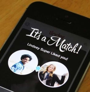Photo of a match on Tinder