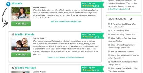 Screenshot of MuslimDatingSites.org