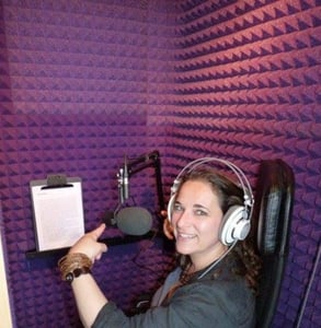 Photo of Alexa in a sound booth