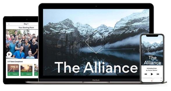 Screenshot of the ManTalks Alliance program