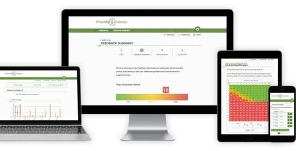 Screenshots of CheckUp & Choices