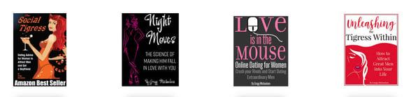 Screenshot of some of Gregg Michaelsen's books