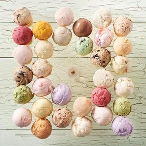 Photo of Hammond's Gourmet Ice Cream varieties