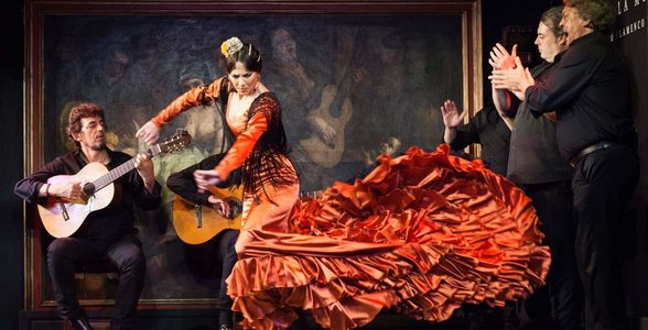 Photo of a flamenco dancer