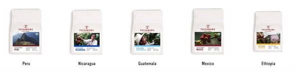 Screenshot of Pachamama coffees