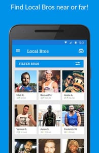 Screenshot of the Bro App