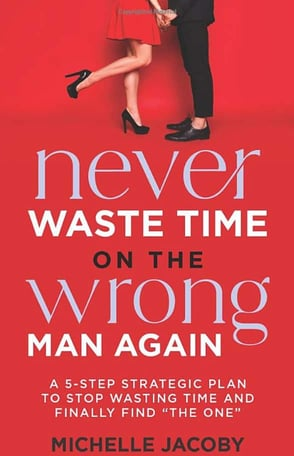 """Cover of """"Never Waste Time on the Wrong Man Again"""" book"""