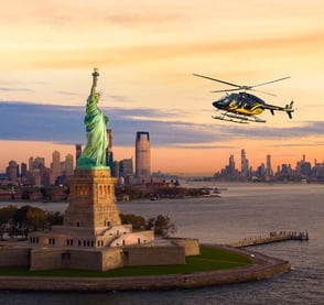 Photo of Zip Aviation helicopter by the Statue of Liberty