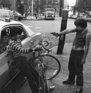 Photo of NYC police by Jill Friedman