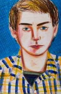 Self-portrait by Larry Stanton