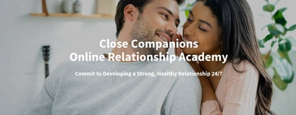Screenshot from the relationship academy