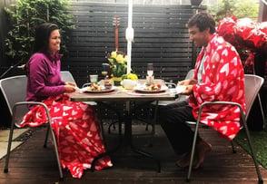 Photo of couple enjoying Made INN Vermont breakfast