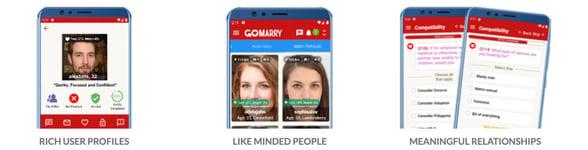 Screenshot from GoMarry website
