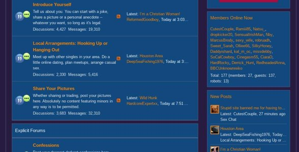 Screenshot of the discussion board