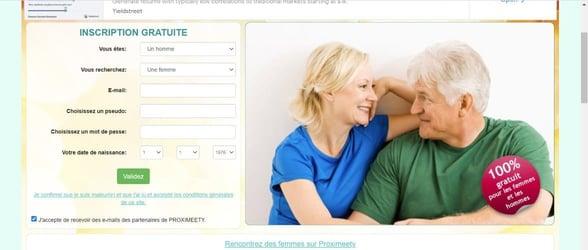 Screenshot of Proximeety for seniors
