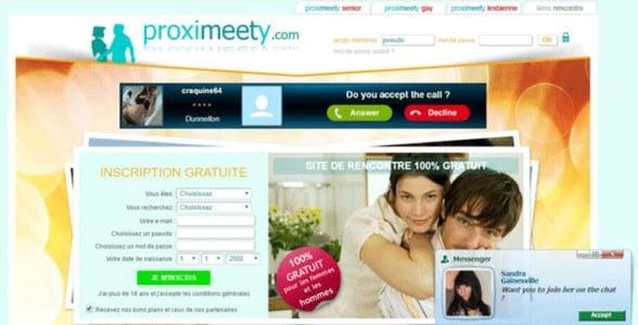 Screenshot of Proximeety