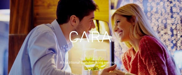 Screenshot from Cara Matchmaking website