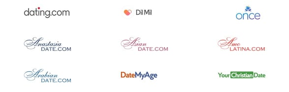 Screenshot from Dating Group website