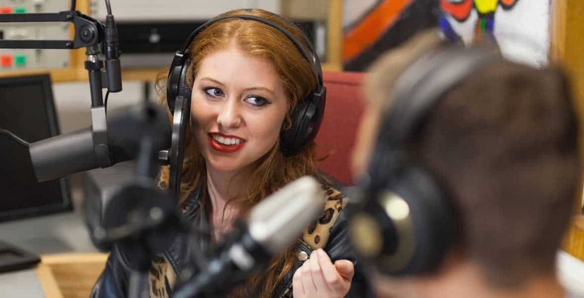 Photo of a radio talk show