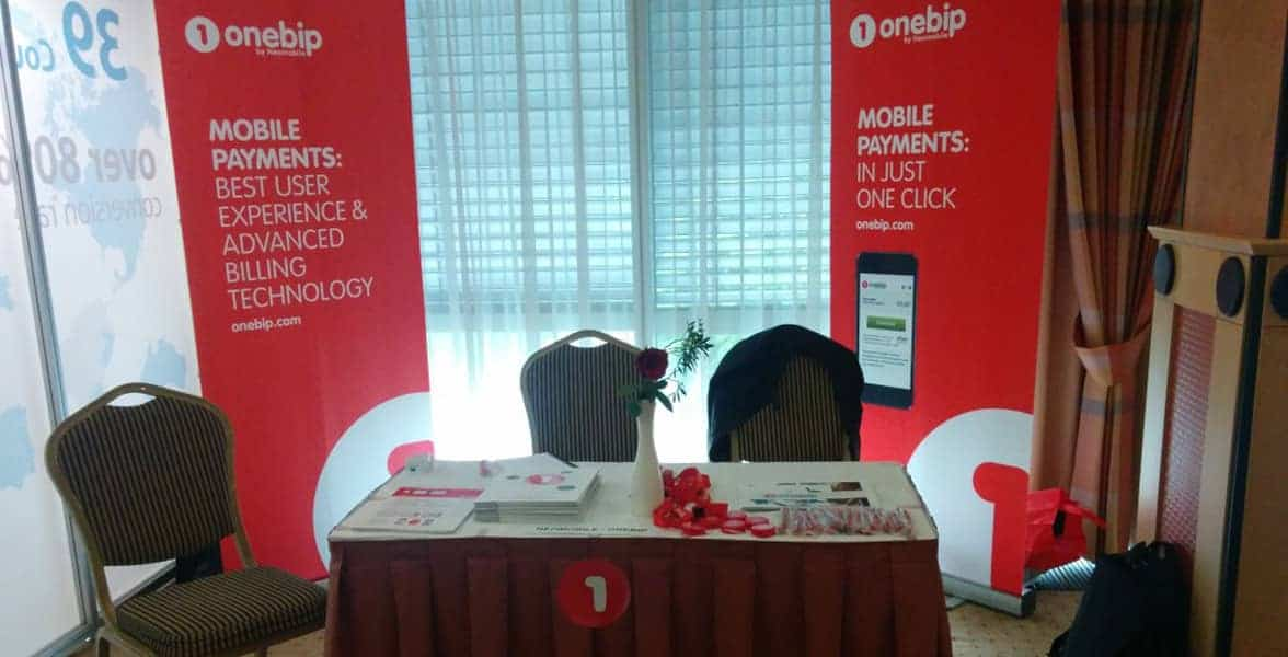 Photo of a booth at an iDate Conference