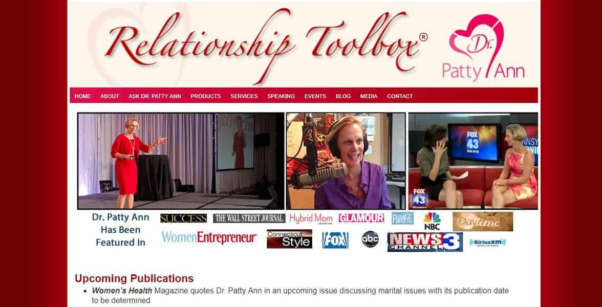 Screenshot of Dr. Patty Ann's website