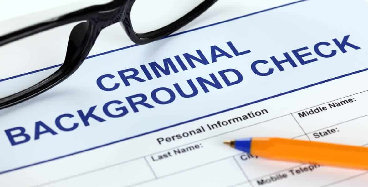Photo of a background check