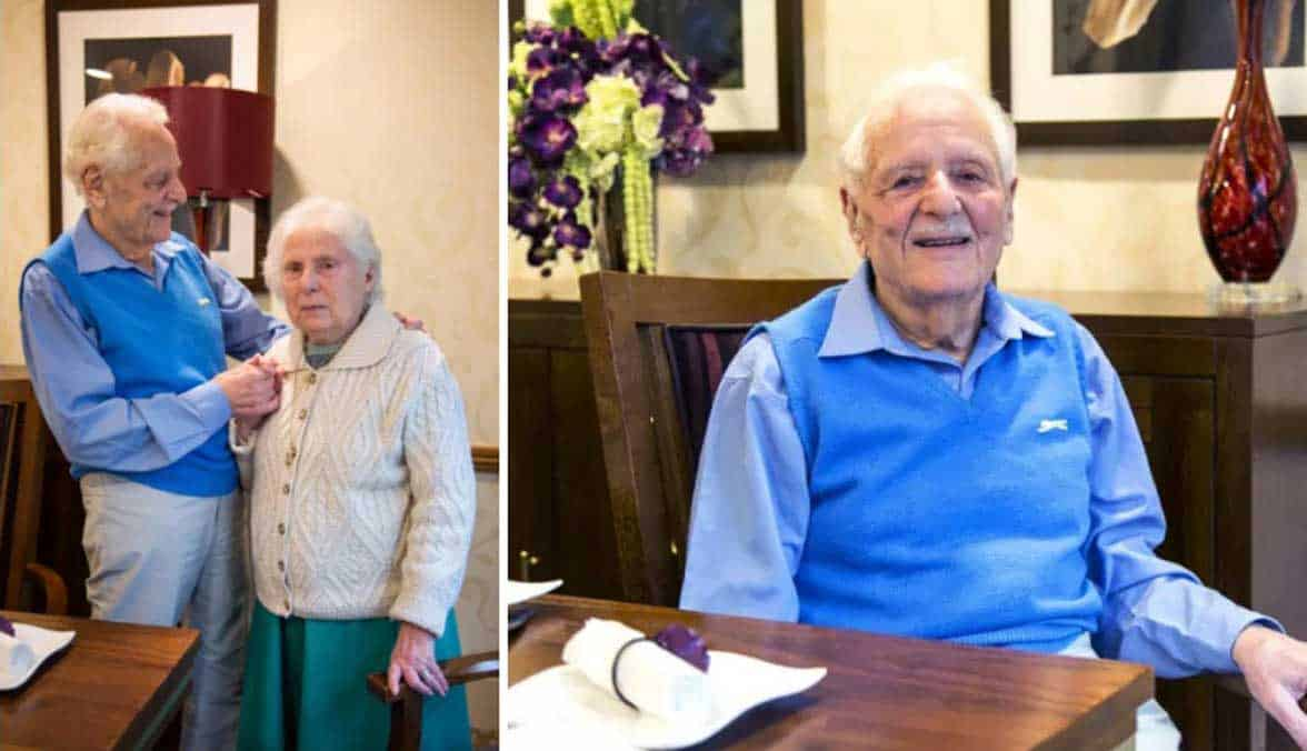 Photo of Betty and Morris, who've been married for 60+ years