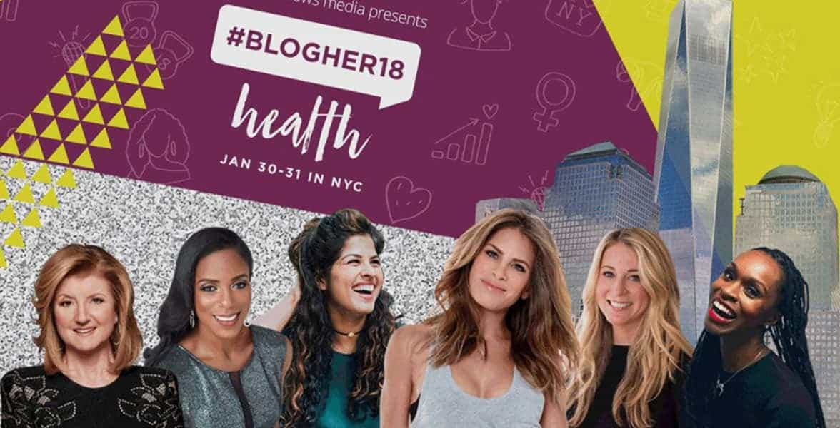 Screenshot from the #BlogHer18 website