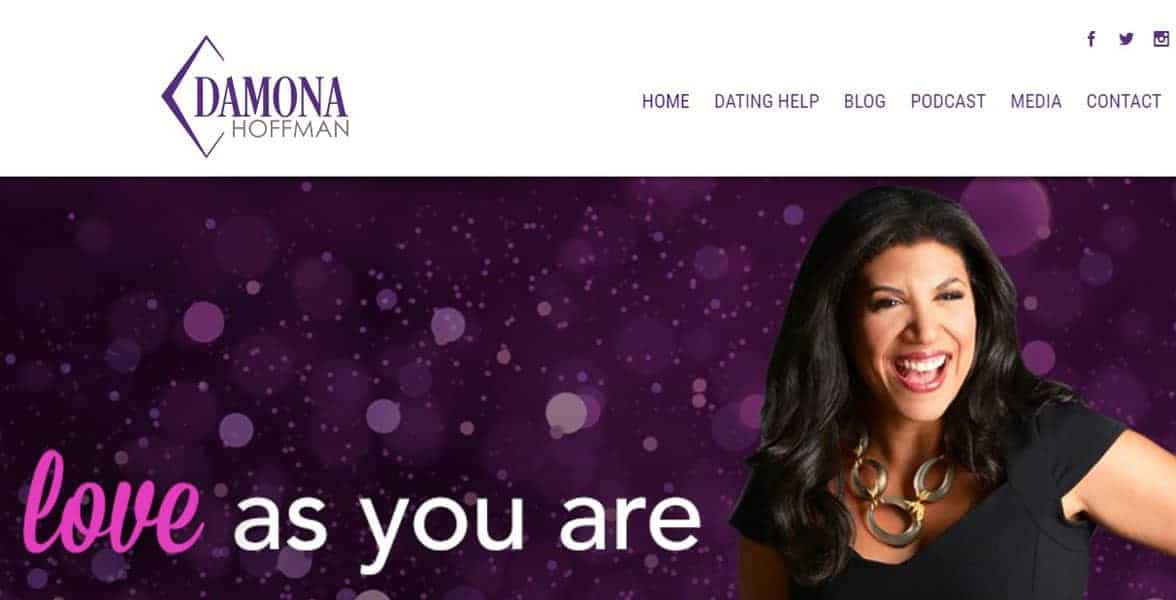 Screenshot of Damona Hoffman, certified dating coach