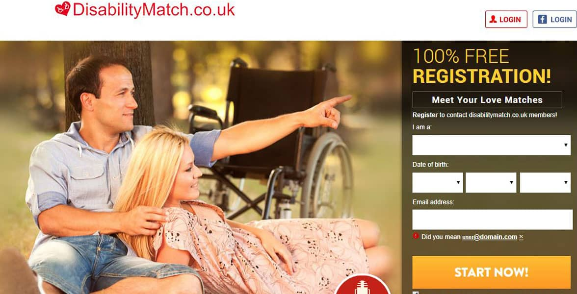 Screenshot of Disability Match