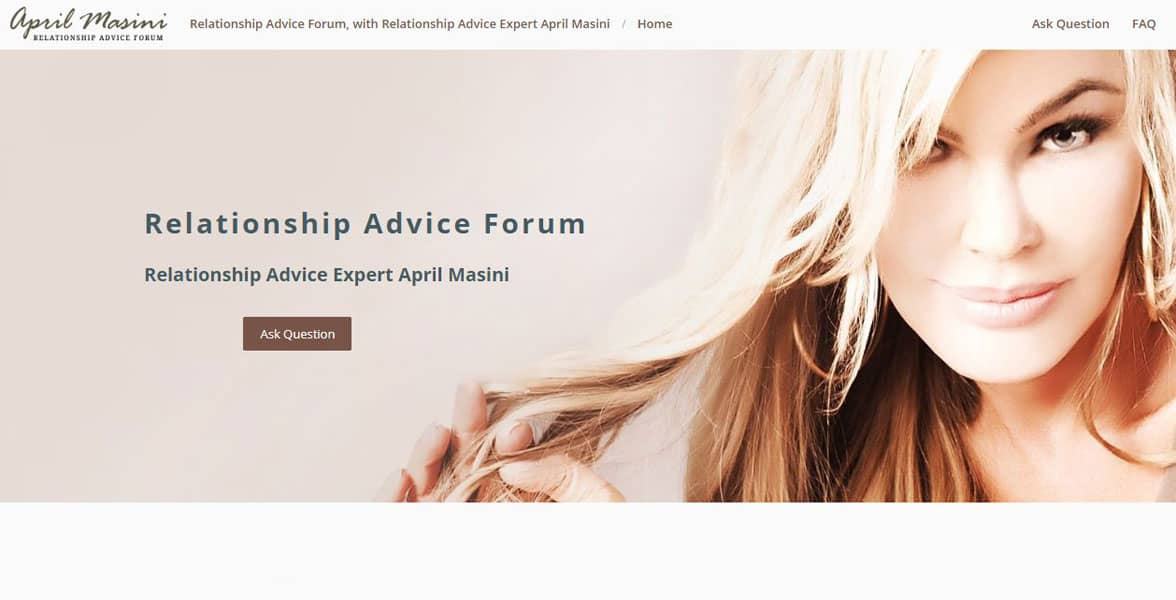 Screenshot of the Relationship Advice Forum
