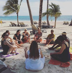 Photo of a Love Retreat workshop on the beach