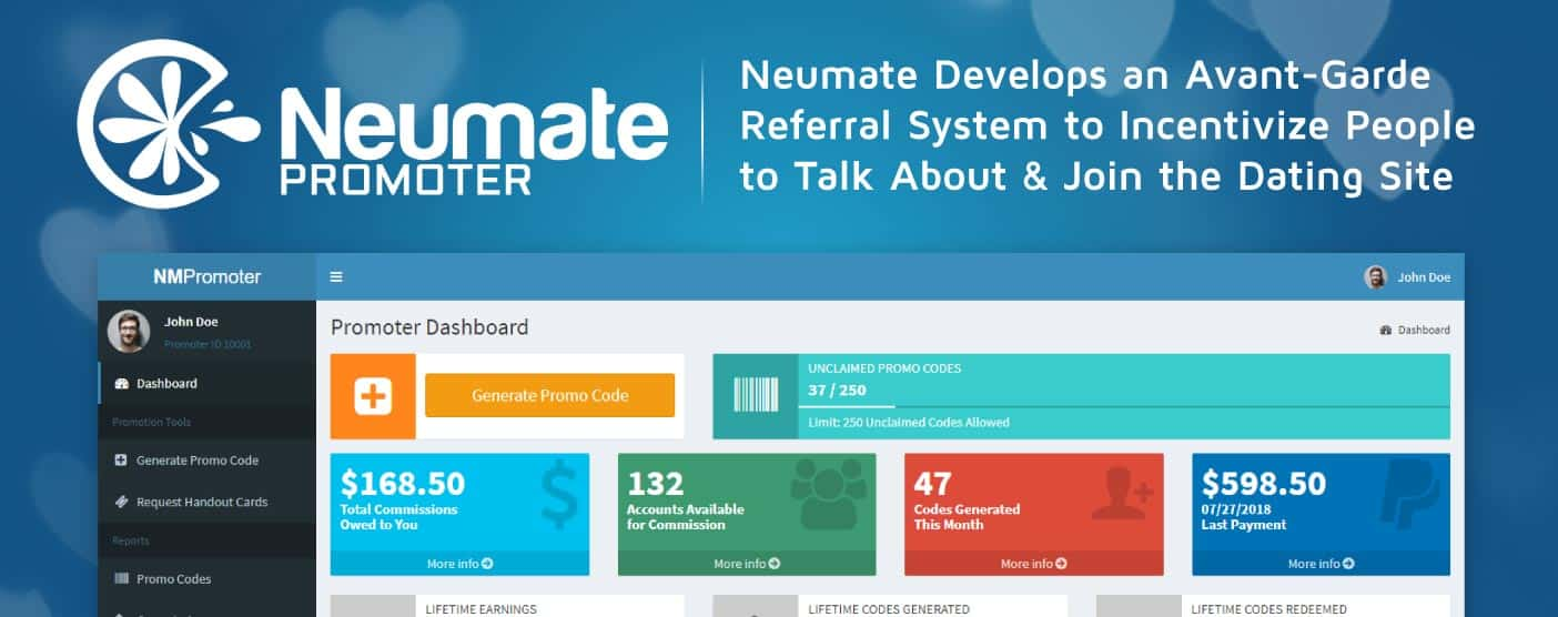 Neumate Develops an Avant-Garde Referral System to Incentivize People to Talk About & Join the Dating Site