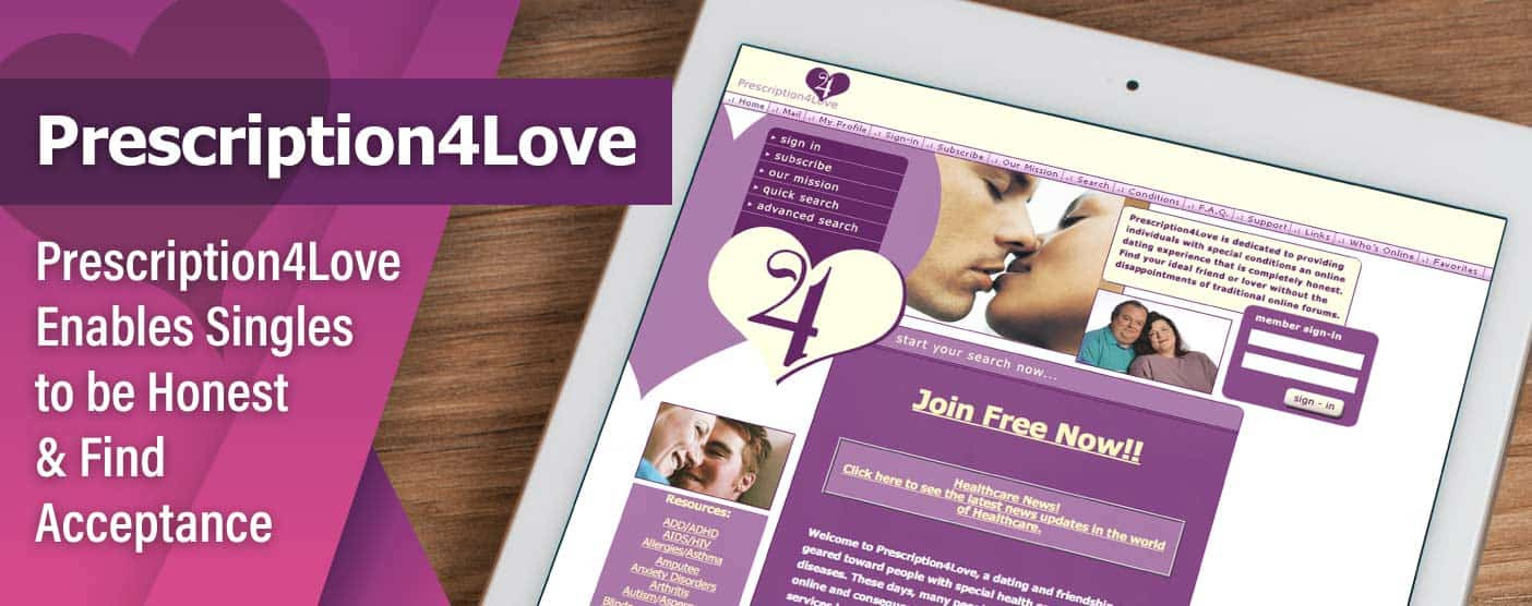 Prescription4Love.com Enables Singles to be Honest About What's Ailing Them & Find Acceptance in an Online Community