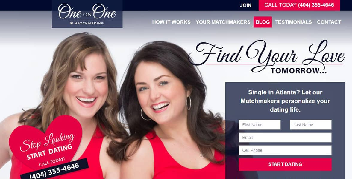 Screenshot of the One on One Matchmaking site