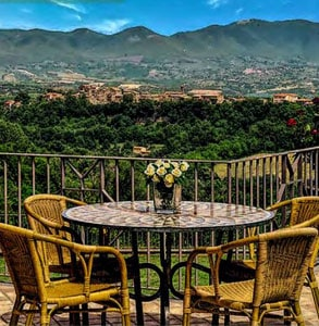 Photo of the view at the Tuscany villa