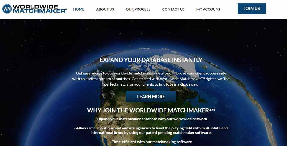 Screenshot of Worldwide Matchmaker