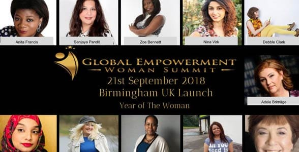 Screenshot of the Global Empowerment Woman Summit event page
