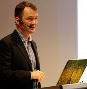 Photo of Mark Brooks speaking at iDate 2012