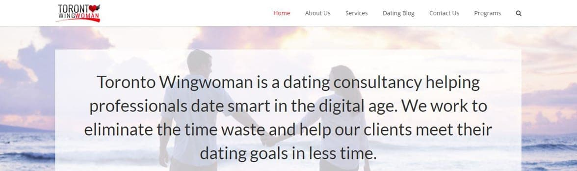 Screenshot of Toronto Wingwoman's homepage