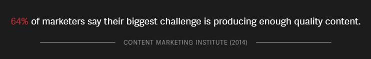 Screenshot of Content Marketing Institute study on NewsCred