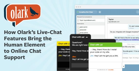 How Olark's Live-Chat Features Bring the Human Element to Online Chat Support
