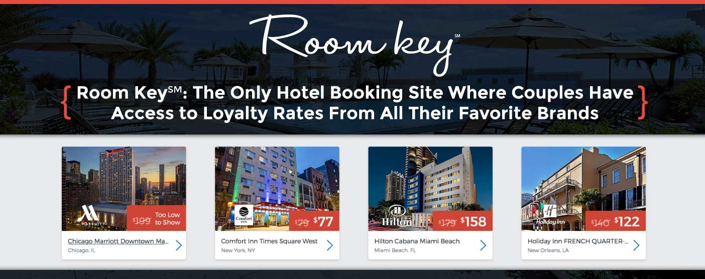 Room Key℠: The Only Hotel Booking Site That Offers Loyalty Rates